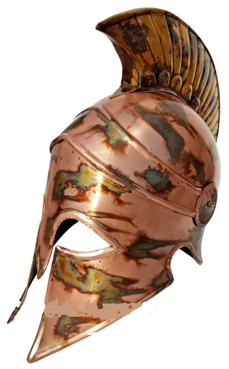 Medieval Corinthian Armor Helmet Antique Finish Reenactment Halloween Replica