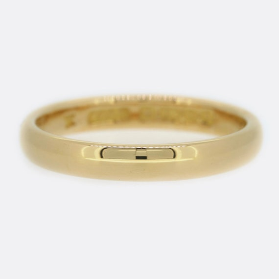 Victorian 22ct Rose Gold Wedding Band Ring 3mm