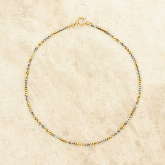 Multi Gold Chain Necklace 18ct Yellow Gold, 18ct W