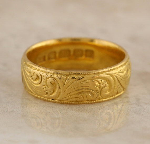 Victorian 22ct Yellow Gold 6mm Wedding Band Ring