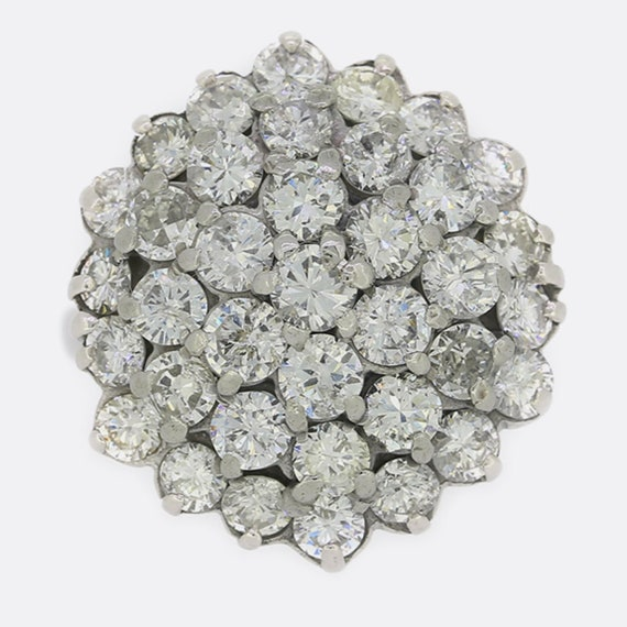 3.50 Carat Vintage 1970s 18ct White Gold Diamond C