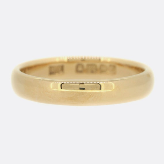 Victorian 22ct Rose Gold Wedding Band Ring 3.5mm