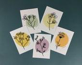Postkarten Set - Flowers