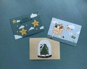 Postkarten-Set Weihnachten