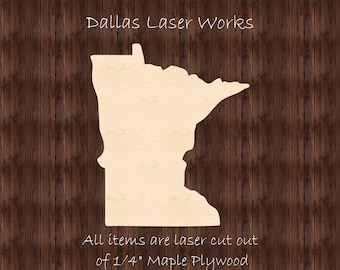 *2-24 Minnesota MN High Definition Borders State Cutout Large /& Small SO-0010-23 Pick Size Laser Cut Unfinished Wood Cutout Shapes