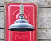 Industrial Wall Sconce - Edison Style Transmission Cover- Steampunk - Vintage