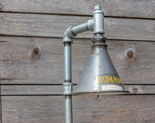 Industrial Pipe Table Lamp - Edison Style Valve Handle - Steampunk - Vintage
