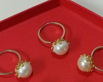 8mm Sterling Silver Cylinder Barrow Pearl Drop Earrings