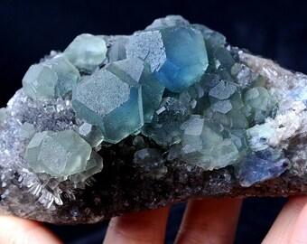 Light Rainbow Fluorite Chakra Crystal Multi Fluorite Choker Fluorite Crystal Necklace