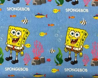 100/% Cotton Fabric Sponge Bob Square Pants Cushion Panel