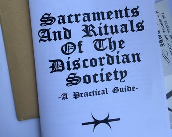 Sacraments and Rituals of the Discordian Society Pamphlet plus pin