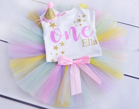 Baby Girls 1st Birthday Tutu Outfit Dress Skirt Cake Smash Photoshoot Polka dot