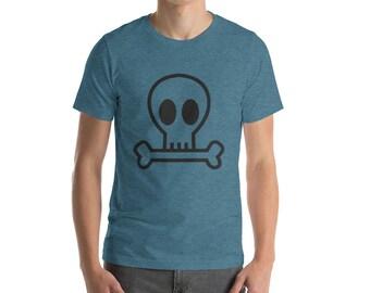 Skull and Bones T-shirt : Short-Sleeve Unisex T-Shirt