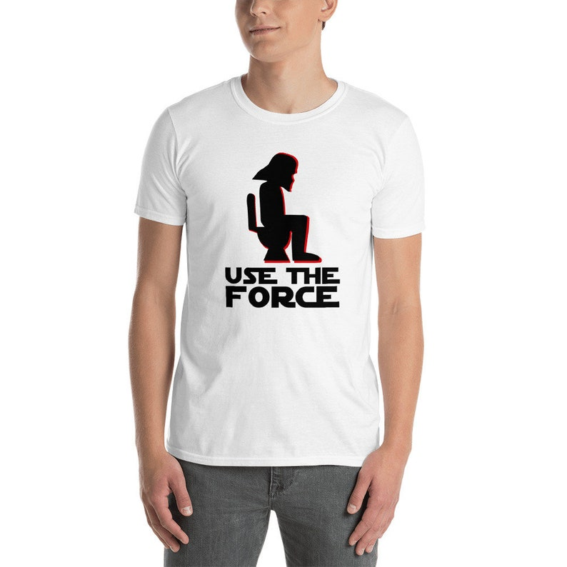 Star Wars Humor Themed: Use The Force  Vader T-shirt image 1