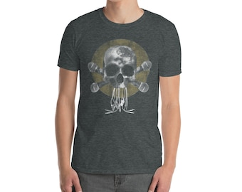 Skull and Microphone - Short-Sleeve Unisex T-Shirt