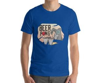 Beer Pong Kong Short-Sleeve Unisex T-Shirt