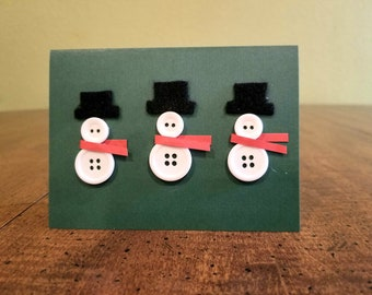 Snowman Cards Etsy