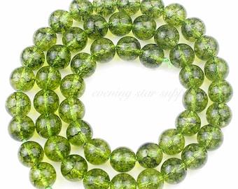 "Gemstone Beads, Green Peridot 15"" Strand, Wholesale DIY Jewelry Making Supplies for Bracelet Necklace Mala 6, 8 & 10 mm"