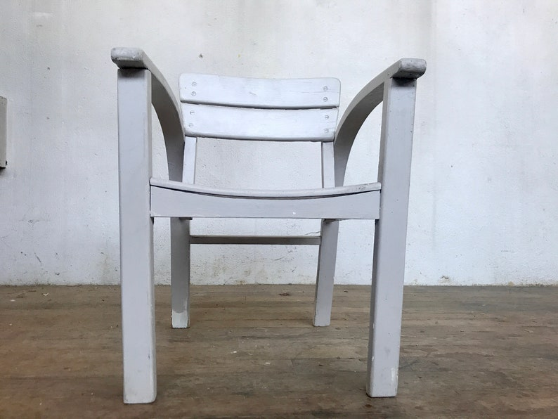 Vintage bianco poltrona per bambini grigio chiaro 1950 rSfOEp70