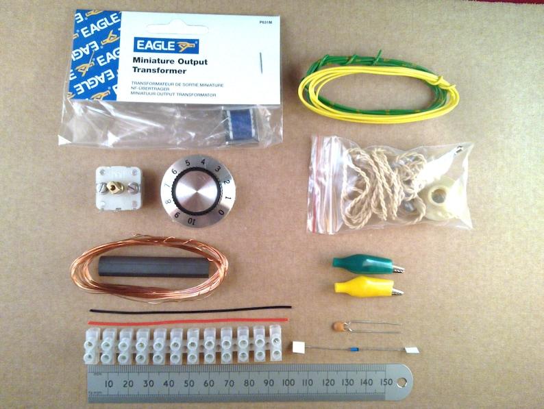 Crystal Set Radio Kit of Electronic Parts Solderless Choccy image 0
