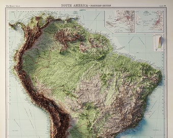 South America - Topography