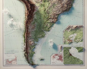 South America - Topography (with clouds)