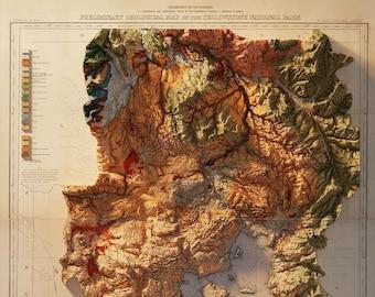 Yellow Stone National Park - Geology (Dusk)