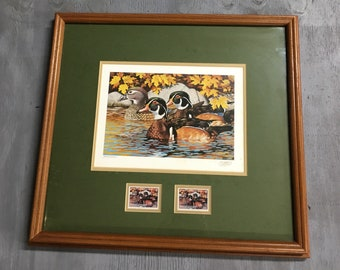 1984 Minnesota Wood Duck Print by Thomas F. Gross