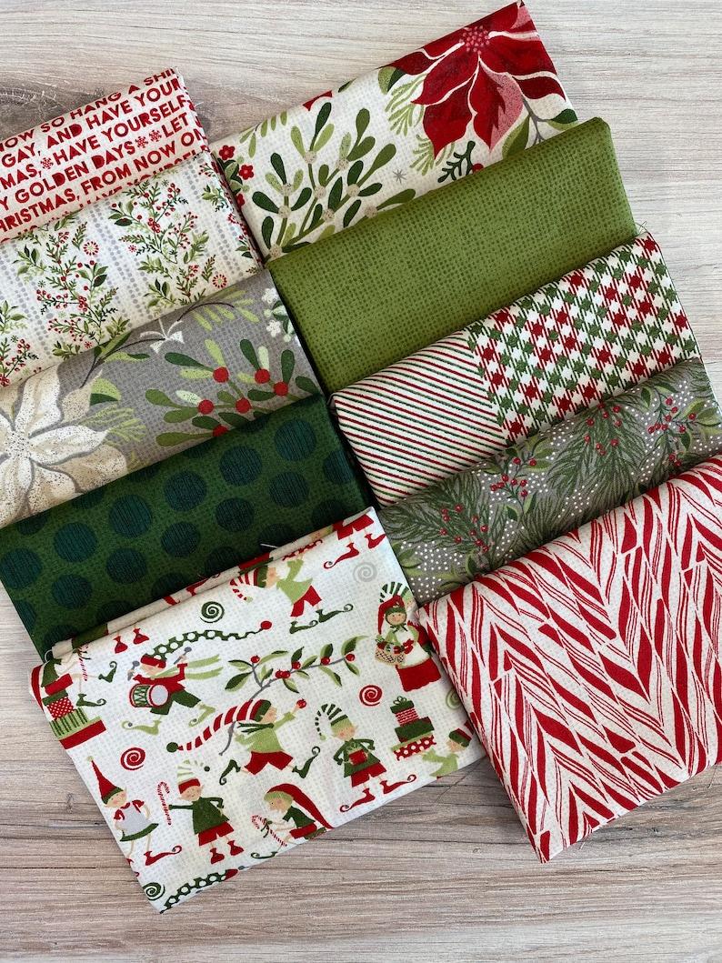 Moda Naughty or Nice Fat Quarter Bundle Fabric image 0