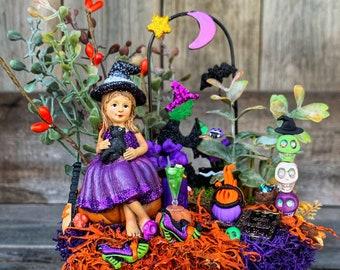 Miniature Garden - Halloween Miniature Garden, Halloween Party Decoration Favor, Halloween Hostess Gift, Miniature Fairy Garden Accessories