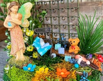 Fairy Garden, Mom & Infant Fairy Garden, Complete Fairy Garden, Fairy Garden Accessory, Complete Fairy Garden, Dollhouse Miniature