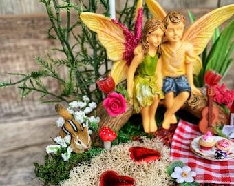 Fairy Garden, Valentine Fairy Garden, Fairy Garden Kit, Fairy Garden Accessory, Complete Fairy Garden Kit, Fairy Garden Miniature, Valentine