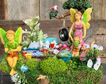 Fairy Garden - Miniature Fairy Garden, Complete Fairy Garden Kit, Mother & Sons Fairy Garden, Mother's Day Gift, Fairy Garden Supplies