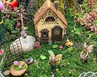 Fairy Garden - 22 Piece Miniature Fairy Garden Accessories, Fairy Garden Supplies, Complete Fairy Garden Set, Fairy Garden Kit