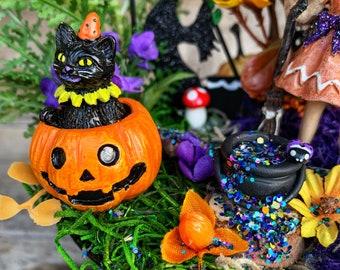 Fairy Garden - Halloween Fairy Garden/Witch Fairy/Miniature Fairy Garden/Complete Fairy Garden/Halloween Decoration/Halloween Centerpiece