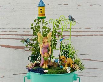 Fairy Garden, Mom & Toddler Fairy, Complete Fairy Garden, Fairy Garden Accessory, Fairy Garden Complete Kit, Fairy Garden Supply