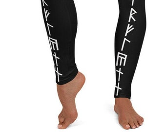 Leggings with Nordic Runes Viking Rues LeggingsNorse Rune Design  Leggings