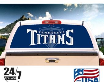 Tennessee Titans Fan Vinyl Sticker Decal *MANY SIZES* Bumper Cornhole Truck Car