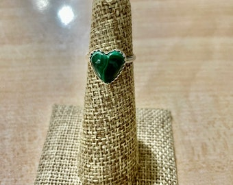 Malachite Ring based on Stainless Steel Malachite Handmade Ring Handmade