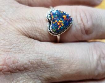 Quality Beautiful Fire Opal Amazing Quality Dot Fire Opal X17 Fabulous Natural Ethiopian Opal Heart Cabochon 15x15x7MM Size AAA++++