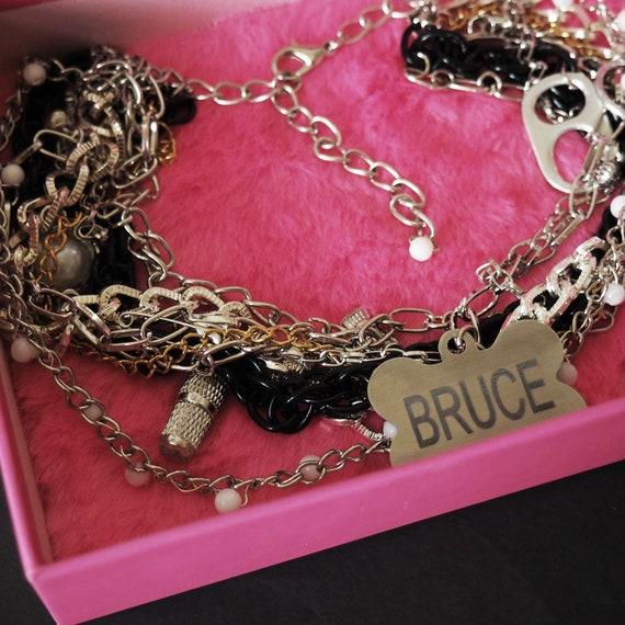 Harley Quinn Birds Of Prey Bruce Necklace Dog Chain Etsy