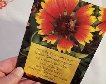Pascha Card, Easter Card, Eastern Orthodox, Christian, Notecard