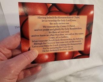 Pascha Card, Easter Card, Eastern Orthodox, Christian, Notecard, A2