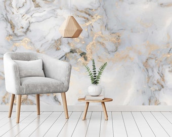 Marble Wallpaper Etsy