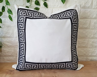 Greek key pillow | Etsy
