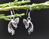 SoCute925 Kokopelli Earrings Kokopelli Dangle Earrings Native American Sterling Silver Earrings Kokopelli Jewelry Flute Player