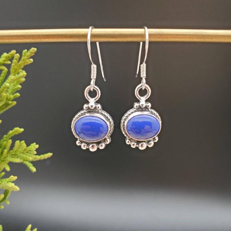 Bridesmaid Gift SoCute925 Lapis Lazuli Earrings Boho Earrings For Made In USA Genuine 925 Sterling Silver Blue Lapis Dangle Earrings