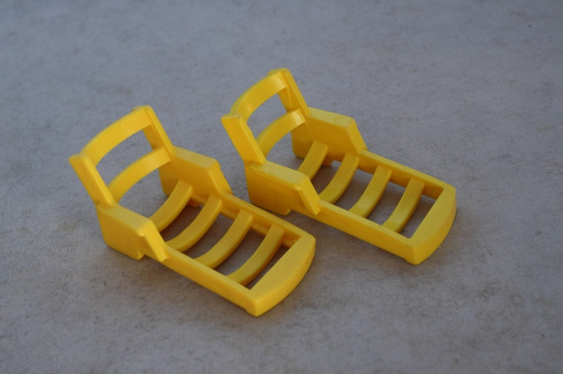 Vintage Yellow FPLP Fisher Price Little People Deck Lawn Chairs A Frame House Boat Pool Camper playset replacement parts