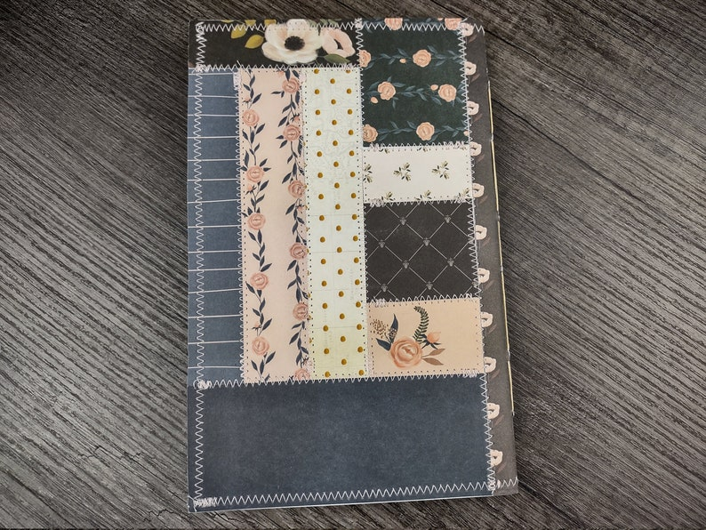 Pink and Navy Blue Notebook Set Handbound Blank Journals Set of 2 Lined Avocado Dyed Paper 40 Pages Each