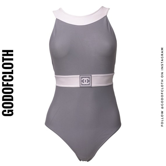 Chanel Gray Sport One-Piece Swimsuit